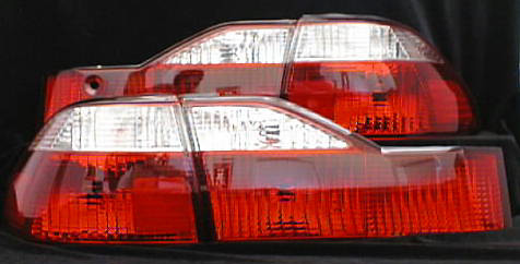Honda Accord 1998-2000 JDM Style Red & Clear Tail Lights