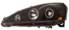 2005 Acura RSX  Halo Projector Headlights Black / Clear