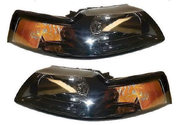Ford Mustang 1999-2001 Black Housing Headlights