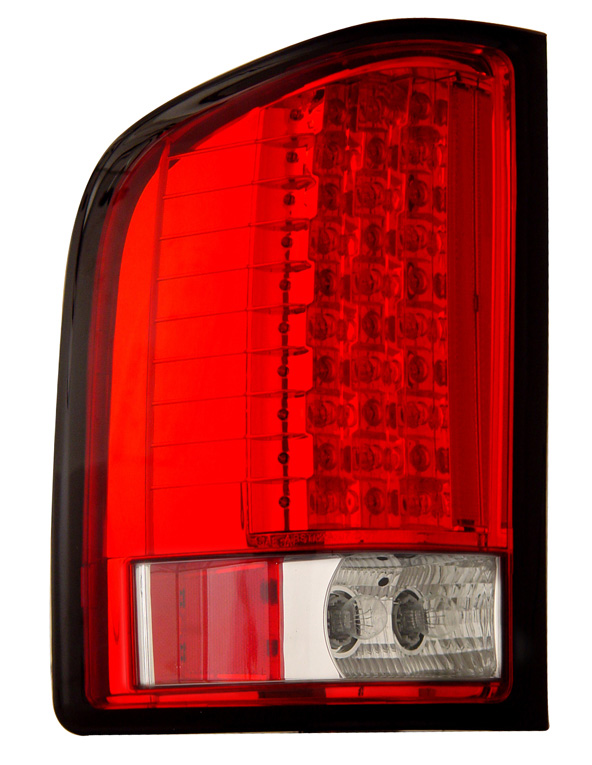Chevrolet Silverado 2007-2008 Red/Clear LED Tail Lights