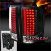 Chevrolet Silverado 2007-2008 Black LED Tail Lights