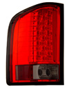 Chevrolet Silverado 2007-2008 Red / Smoke LED Tail Lights