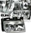 2000 Cadillac Escalade   Chrome Euro Crystal Headlights