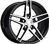 Chevrolet Corvette 1997-2012 17x8.5 5x4.75 +56 C6 Z06 Style Wheel - Black Machine Face With Cap