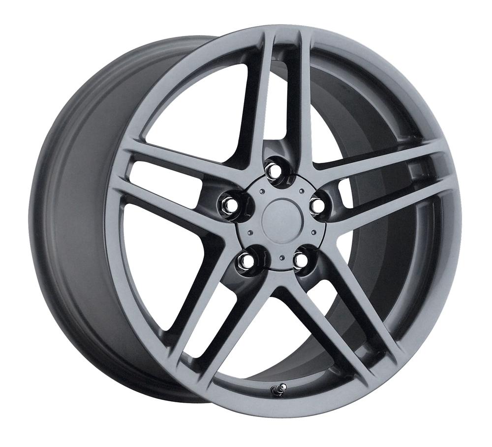 Chevrolet Corvette 1997-2012 19x10 5x4.75 +79 C6 Z06 Style Wheel - Grey With Cap