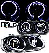 2001 Acura Integra   Halo Projector Headlights - Black Housing Clear Lens