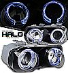 1995 Acura Integra   Halo Projector Headlights - Chrome Housing Chrome Lens