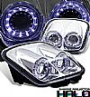 1999 Chevrolet Corvette C5  Halo Projector Headlights - Chrome Housing Clear Lens 