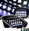 2000 Chevrolet Corvette C5  Halo 12 LED Headlights - Black Housing Clear Lens