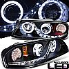 2000 Chevrolet Impala   Projector  W/LED Signal Headlights - Black Housing Clear Lens