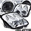 1999 Chevrolet Corvette C5  Projector Headlights - Chrome Housing Clear Lens