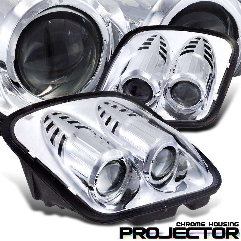 Chevrolet Corvette C5 1997-2004 Projector Headlights - Chrome Housing Clear Lens