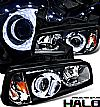 2008 Dodge Charger   1 Pc Projector Headlights - Black Housing Clear Lens