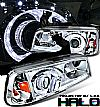 2010 Dodge Charger   1 Pc Projector Headlights - Chrome Housing Clear Lens