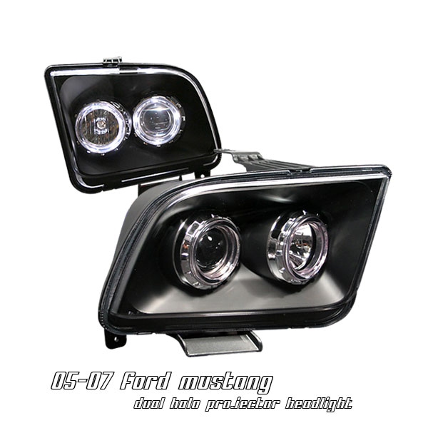 Ford Mustang 2005-2007  Black W/halo Projector Headlights