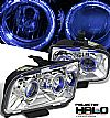 Ford Mustang  2005-2007 Halo Projector Headlights - Chrome Housing Clear Lens