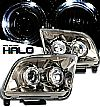 2005 Ford Mustang   Halo Projector Headlights - Titanium Housing Clear Lens 
