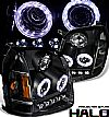 2009 Gmc Yukon   Halo Projector Headlights - Black/Amber Housing Clear Lens