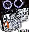 2007 Gmc Yukon   Halo Projector Headlights - Chrome/Amber Housing Clear Lens 