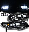 Honda Civic 2dr 2006-2009 Projector  W/LED Headlights - Black Housing Clear Lens 