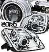 2000 Honda Prelude   Projector  W/LED Headlights - Chrome Housing Clear Lens