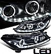 2009 Honda Accord 4dr  Projector  W/LED Bar Headlights - Black Housing Clear Lens