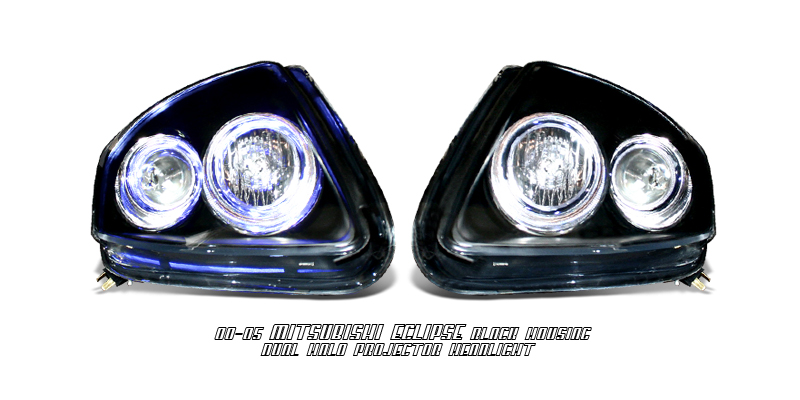 Mitsubishi Eclipse 2000-2005  Black W/halo Projector Headlights