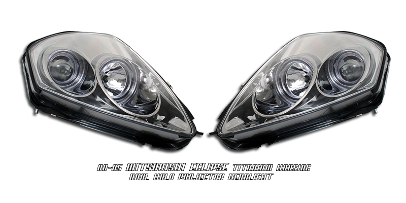 Mitsubishi Eclipse 2000-2005  Titanium W/halo Projector Headlights