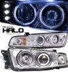 2000 Mitsubishi Galant   Chrome W/ Halo Led Projector Headlights