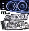Mitsubishi Galant 1999-2003  Chrome W/halo Led Projector Headlights
