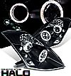2004 Nissan 350Z   Halo Projector Headlights - Black Housing Clear Lens