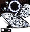 Nissan 350Z  2003-2005 Halo Projector Headlights - Chrome Housing Clear Lens