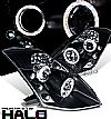 2005 Nissan 350Z   Halo Projector Headlights - Chrome Housing Smoke Lens