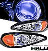 2001 Pontiac Grand Am   Halo Projector Headlights - Chrome Housing Clear Lens