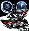 2010 Scion TC   Halo Projector Headlights - Black Housing Clear Lens