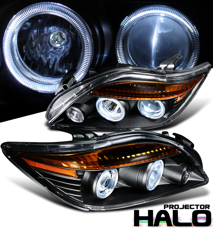 Scion TC  2005-2010 Halo Projector Headlights - Black Housing Clear Lens