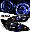 2003 Toyota Camry   Halo Projector Headlights - Black Housing Clear Lens
