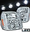 Gmc Yukon  2007-2009 Projector Headlights - Chrome Housing Clear Lens