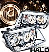 2000 Volkswagen Jetta   Halo Projector Headlights - Chrome Housing Clear Lens