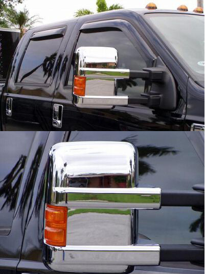Ford F-250 F250 2008 Mirror Covers (Chrome)