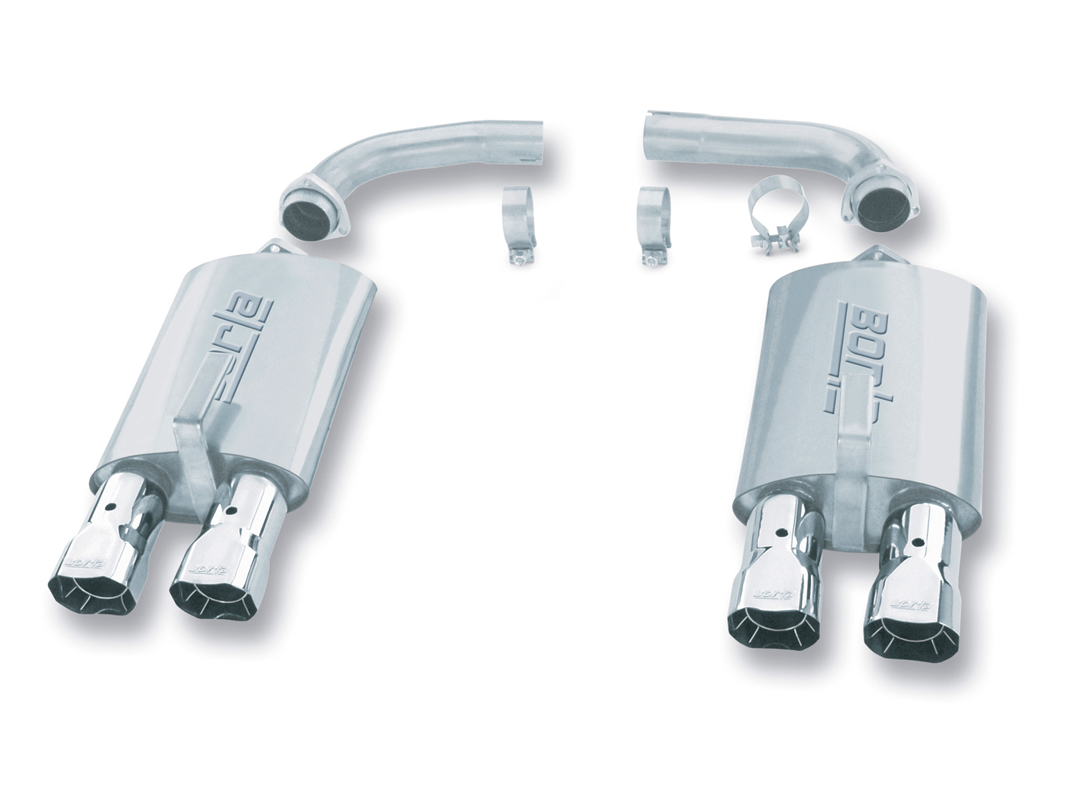 "Chevrolet Corvette C4 5.7l V8 1984-1991 Borla 2.5"" Rear Exhaust Section 2.5"" Conv - Dual Square Angle-Cut Intercooled"