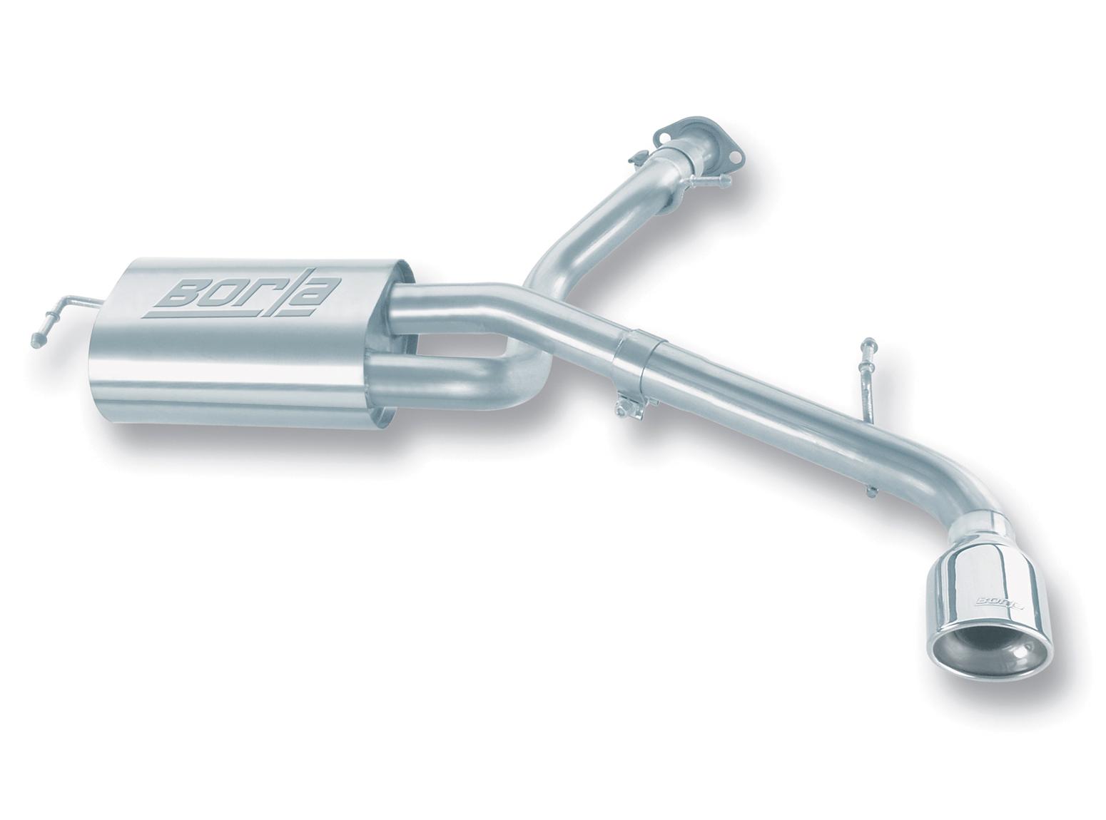 "Scion TC  2005-2010 Borla 2.25"" Rear Exhaust Section - Single Oval Rolled Angle-Cut"