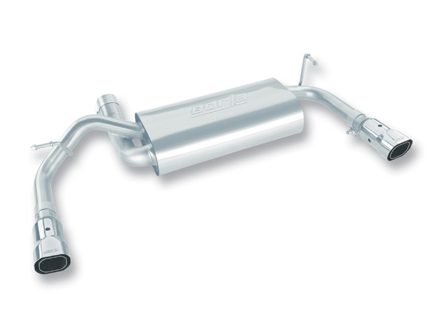 "Jeep Wrangler 3.8l V6 2007-2011 Borla 2.5"", 2"" Exhaust Rear Section - Single Square Angle-Cut Phantom Tips"
