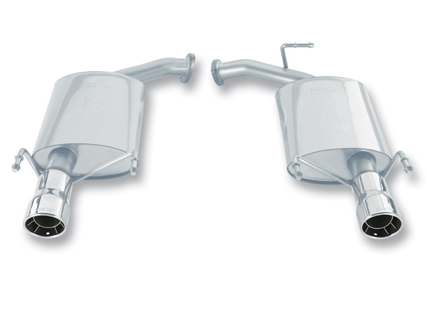 "Toyota Camry  2007-2010 Borla 2.25"" Rear Exhaust Section - Single Round Rolled Angle-Cut Intercooled"
