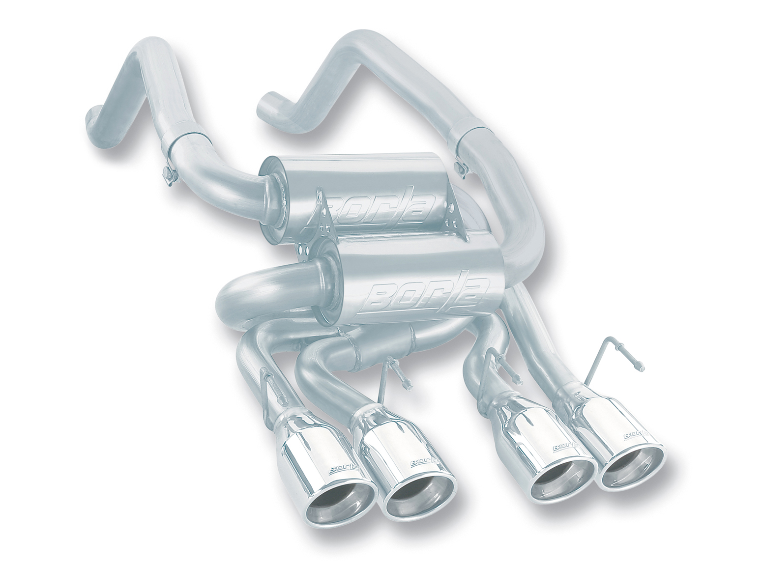 "Chevrolet Corvette C6 6.2l V8 2009-2012 Borla 2.5"", 2"" Rear Exhaust Section  ""s-Type"" - Dual Round Rolled Angle-Cut"