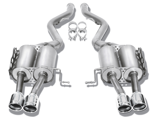 "Bmw M3 Coupe/Conv 2008-2011 Borla 2.5"" Rear Exhaust Section ""touring"" - Dual Round Rolled Angle-Cut"