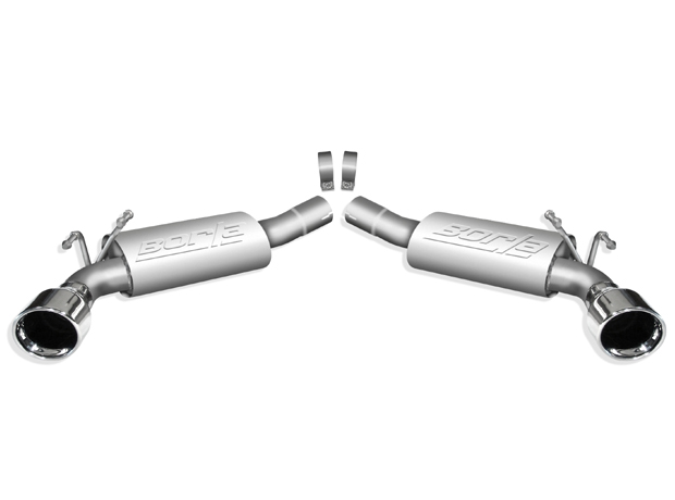 "Chevrolet Camaro 6.2l V8 2010-2012 Borla 2.5"" Rear Exhaust Section  ""touring"" - Single Round Rolled Angle-Cut Lined"