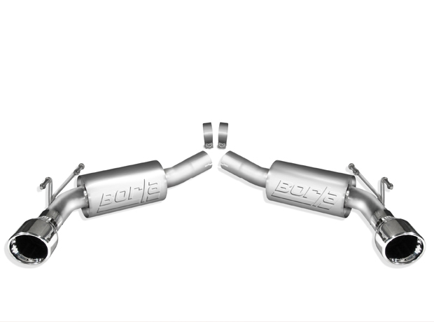 Chevrolet Camaro SS 2010 Borla Stainless Steel Exhaust System S-Type Mufflers Rear Section