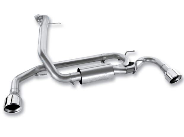 Mazda Mazda 3 2.3l Turbo 2010-2011 Borla 2.5&#34;, 2.25&#34; Rear Exhaust Section - Single Round Rolled Angle-Cut