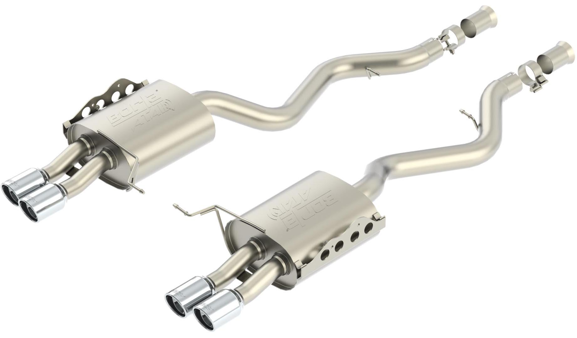 "Bmw M3 Coupe/Conv 2008-2011 Borla 2.75"" Rear Exhaust Section ""atak"" - Dual Round Rolled Angle-Cut"